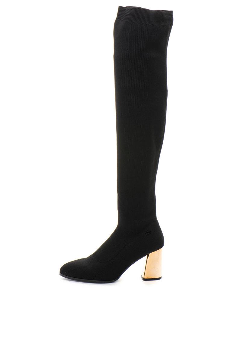 RB DI ROCCOBAROCCO Cizme lungi peste genunchi, cu aspect tricotat Maris