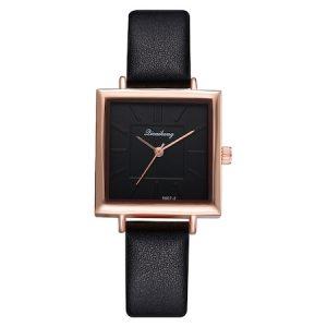 Ceas de dama elegant Dicaihong CS1090, curea piele, model negru