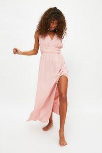 Trendyol, Rochie de plaja cu bretele din lant, Roz pal