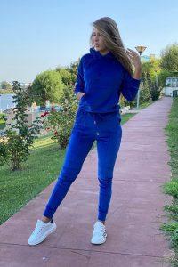 Trening de catifea Erica albastru